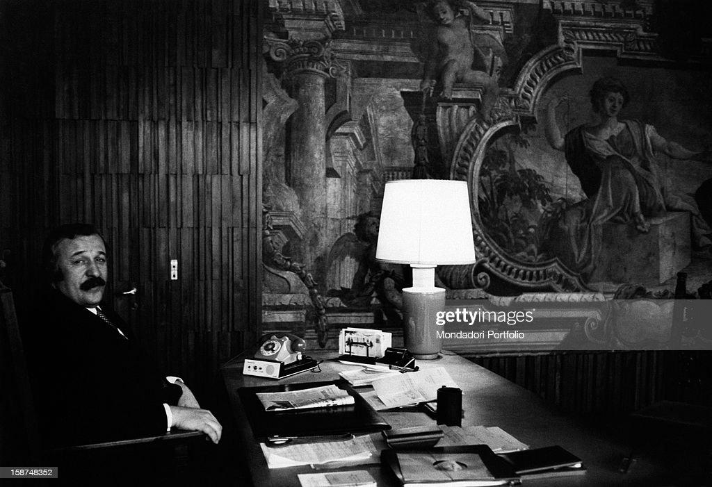 Italian Florence: Portrait Of Italian Businessman Renato Bialetti In His
