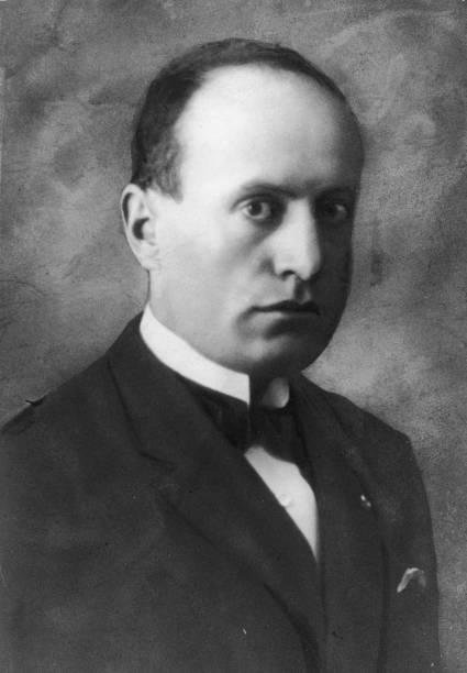 Portrait of Italian dictator Benito Mussolini , 1920s....