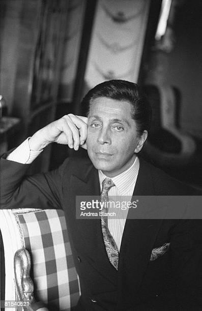 Portrait of Italian fashion designer Valentino, late twentieth century.