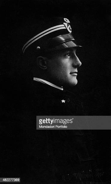 Portrait of Italian fencer Nedo Nadi wearing the lieutenant uniform 1920s