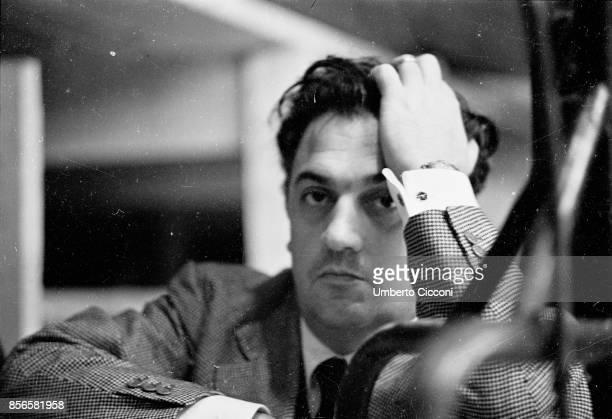 A portrait of Italian film director Federico Fellini