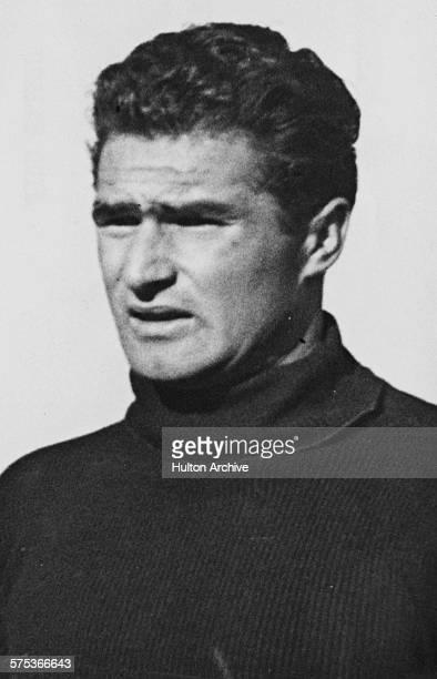 Portrait of Italian football player Omero Tognon, center midfielder for Milan, circa 1950.