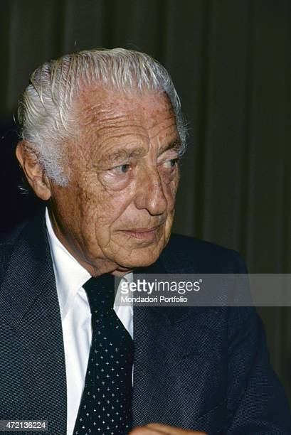 'Portrait of Italian industrialist and politician Gianni Agnelli president of FIAT '