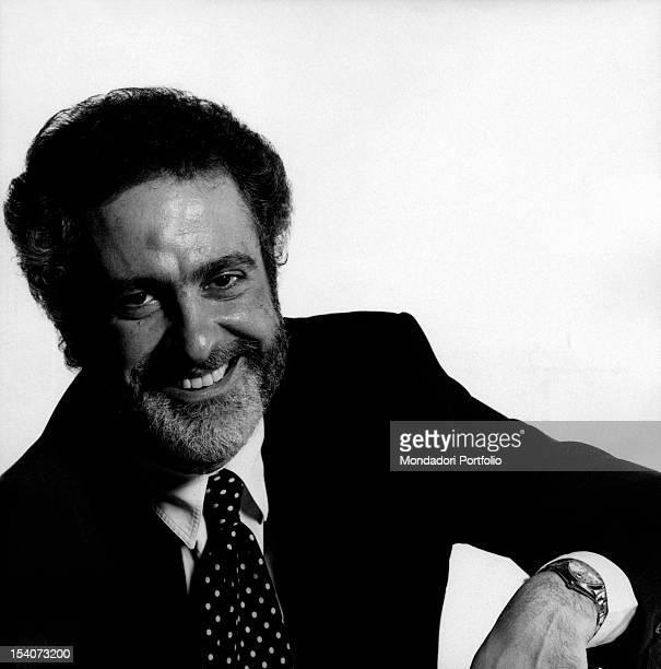 Portrait of Italian journalist Claudio Rinaldi smiling He was the director of Italianlanguage weekly magazines L'Espresso L'Europeo and Panorama 1990s