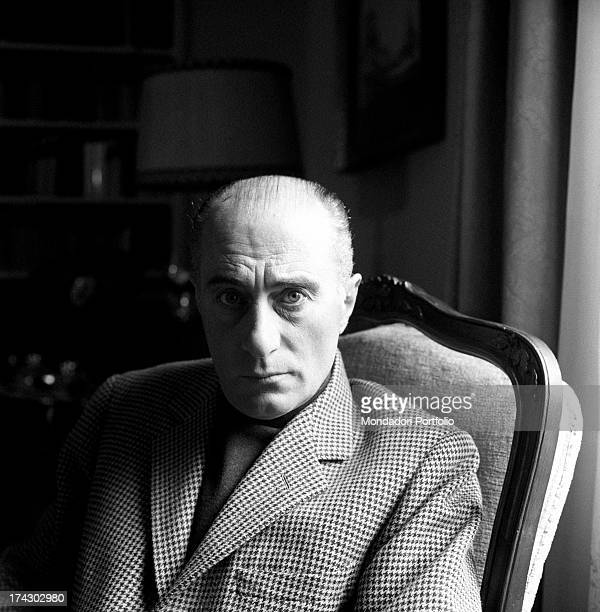 Portrait of Italian journalist Indro Montanelli Rome 1963