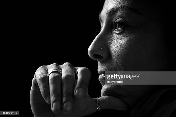 portrait of italian lady - black and white stock pictures, royalty-free photos & images