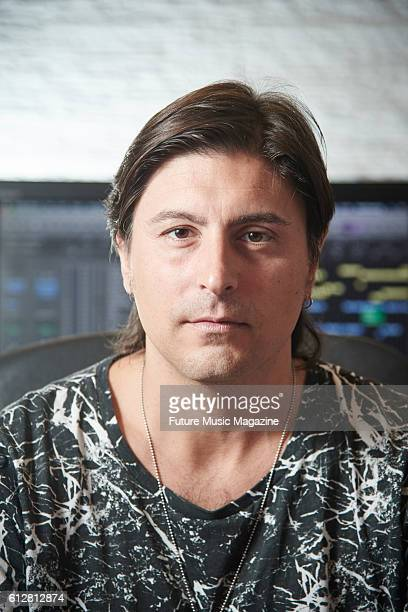Portrait of Italian musician Carlo Grieco of house music group Daddy's Groove photographed at their studio space in Naples on June 17 2015
