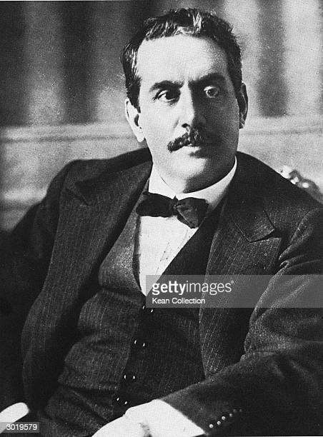 Portrait of Italian operatic composer Giacomo Puccini , 1900s.