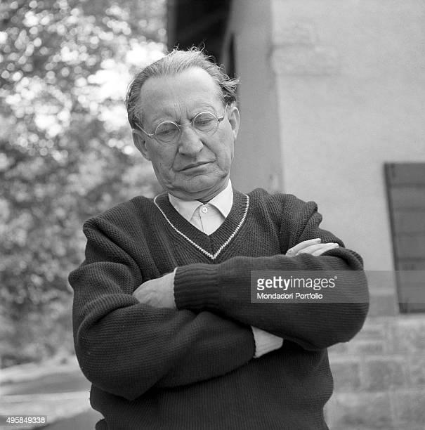 Portrait of Italian politician Alcide De Gasperi Borgo Valsugana 7th August 1953