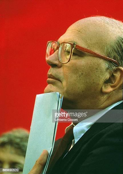 A portrait of Italian politician Bettino Craxi 1998