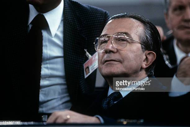 Portrait of Italian politician Giulio Andreotti 1990s