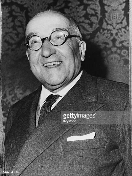 Portrait of Italian Prime Minister Adone Zoli, circa 1957.