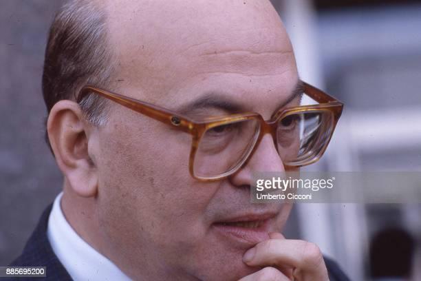 Portrait of Italian Prime Minister Bettino Milan 1987