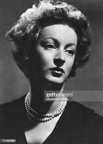 Portrait of Italian Princess Marella Agnelli Caracciolo of Castagneto Gianni Agnelli's wife 1950s