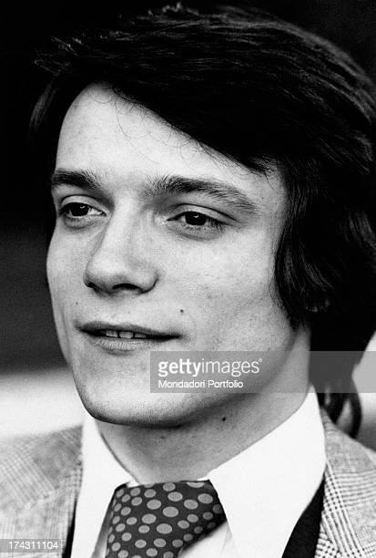 Portrait of Italian singer and actor Massimo Ranieri Rome 1970s