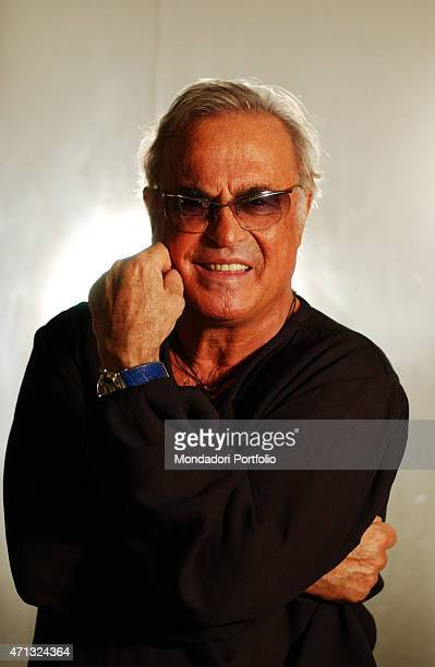 Portrait of Italian singer Franco Califano in a photo shooting shooted at Hotel le Toc Milan 15th October 2003