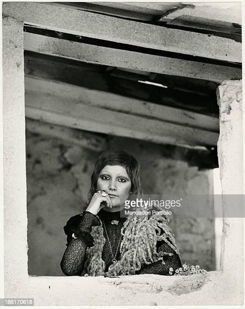 Portrait of Italian singer Mia Martini Milan 1970s
