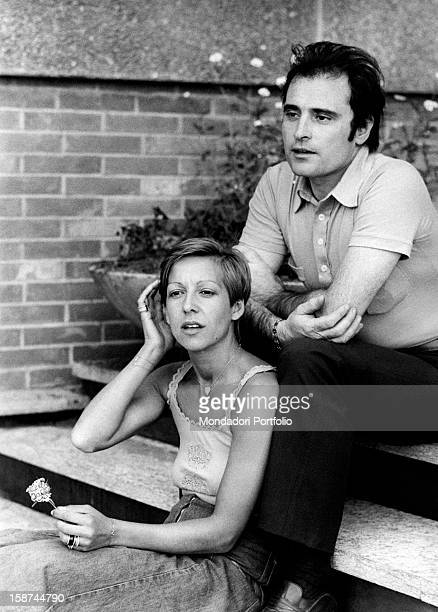 Portrait of Italian singer Wilma Goich with her husband Italian singersongwriter Edoardo Vianello SaintVincent 1970s