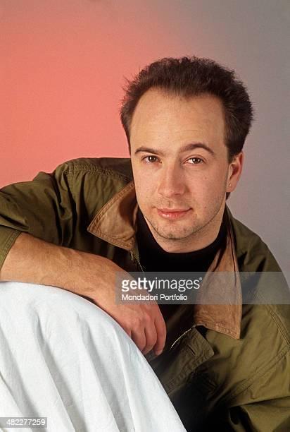 Portrait of Italian singersongwriter Marco Masini 1991