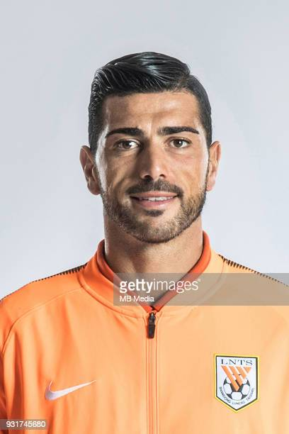 **EXCLUSIVE** Portrait of Italian soccer player Graziano Pelle of Shandong Luneng Taishan FC for the 2018 Chinese Football Association Super League...