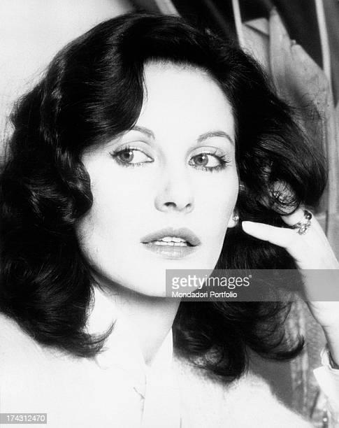 Portrait of Italian television presenter and actress Gabriella Farinon Milan 1970s