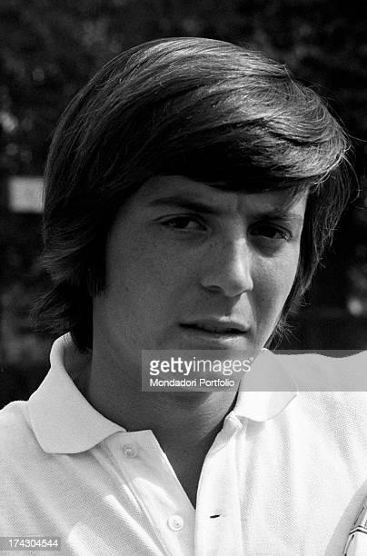 Portrait of Italian tennis player Adriano Panatta 1960s