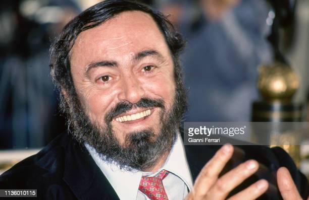 Portrait of Italian tenor Luciano Pavarotti , Madrid, Spain, 1993.