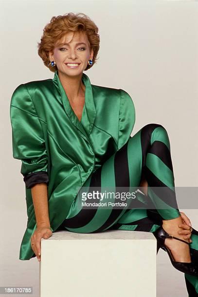 Portrait of Italian TV and radio presenter Enrica Bonaccorti Italy 1985