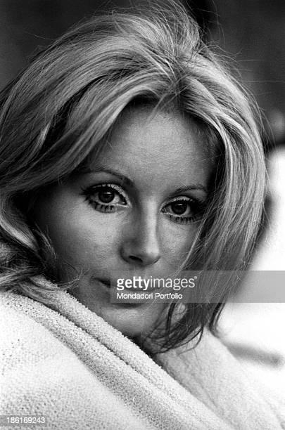Portrait of Italian TV presenter and actress Gabriella Farinon Italy 1968