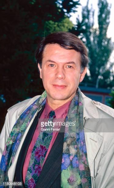 Portrait of Italian-born Belgian singer Salvatore Adamo, Madrid, Spain, 1991.