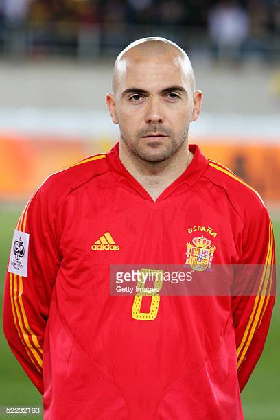 A portrait of Ivan de la Pena of Spain prior to the World Cup Qualifier between Spain v San Marino held at the Estadio Juan Rojas on February 9 2005...