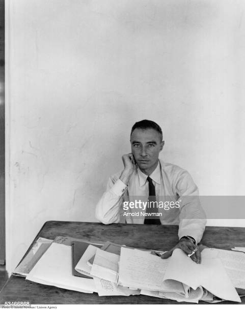 Portrait of J Robert Oppenheimer scientist theoretical physicist and administrator June 6 1948 in Berkeley California Oppenheimer was director of the...