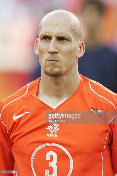 A portrait of Jaap Stam of Holland prior to the UEFA Euro 2004 Group D match between Germany and Holland at the Drago Stadium on June 15 2004 in...