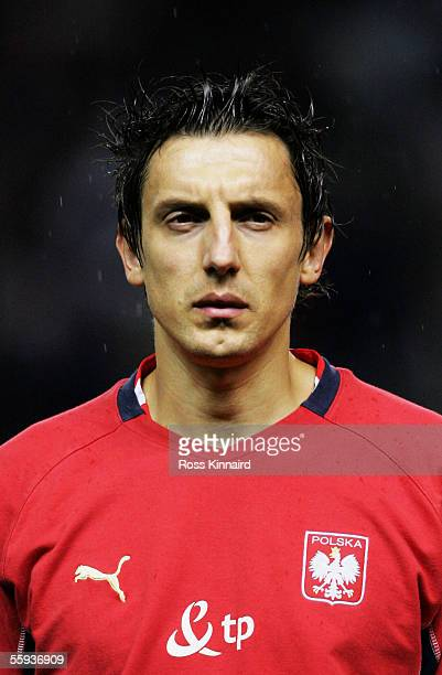 A portrait of Jacek Bak of Poland prior to the FIFA World Cup Group 6 qualifying match between England and Poland at Old Trafford on October 12 2005...