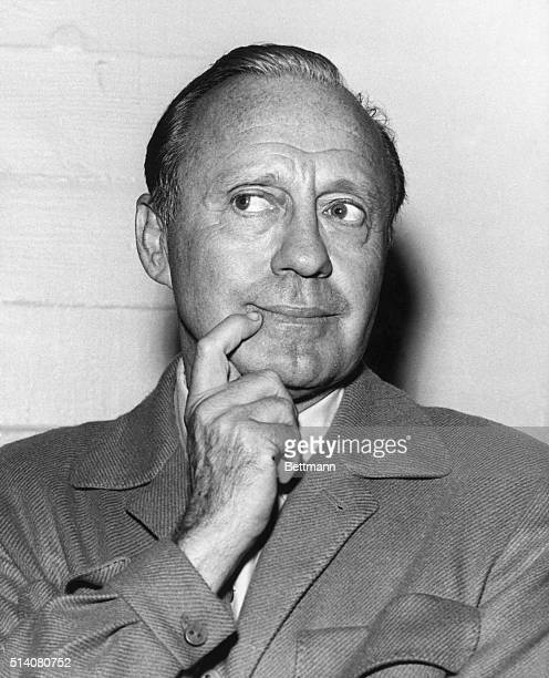 Portrait of Jack Benny with his signature pose his hand to his face Undated photograph BPA2# 3965