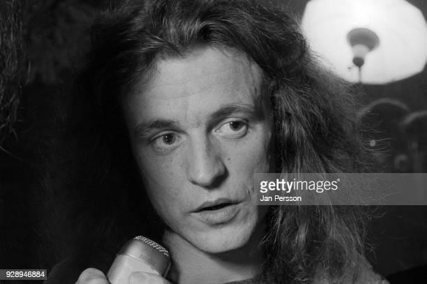 Portrait of Jack Bruce of blues rock group West Bruce and Laing in Copenhagen Denmark March 1973