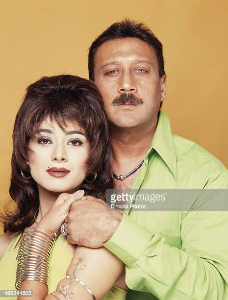 1996 Portrait of Jackie Shroff and Pooja Batra