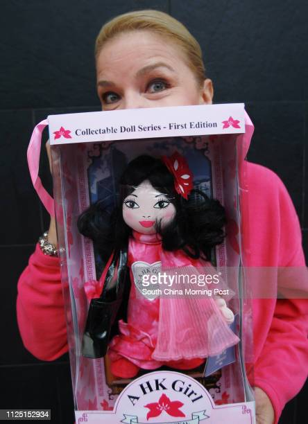 Portrait of Jacqueline Nielson posing with her A HK Girl doll 15FEB11
