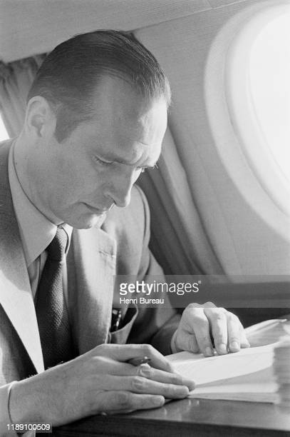 Portrait of Jacques Chirac on the plane, June 1974