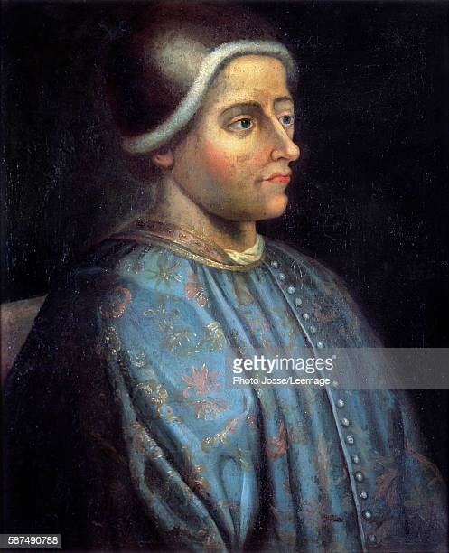Portrait of Jacques Coeur Treasurer of King Charles VII and great French trader Anonymous painting 17th century after an original painting of the...