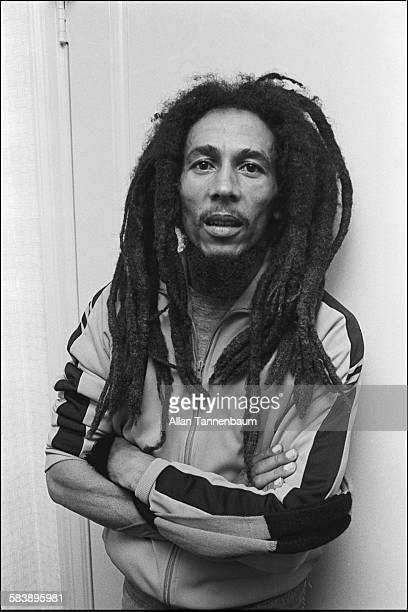 Portrait of Jamaican Reggae musician Bob Marley in his room New York New York October 29 1979