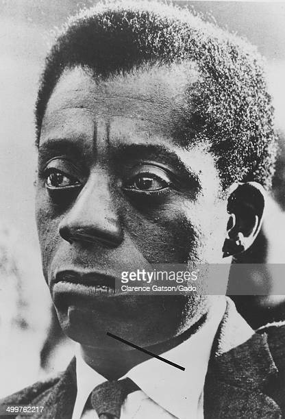 Portrait of James Baldwin wearing a concerned expression San Francisco California 1980