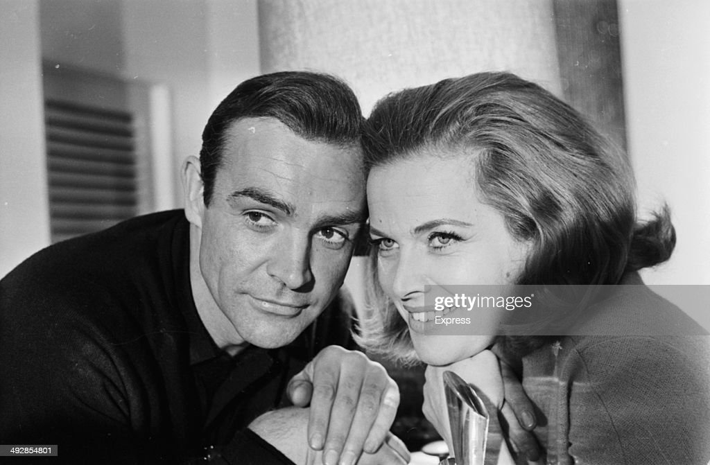 Portrait of James Bond actors Sean Connery and Honor Blackman, to promote the film 'Goldfinger', 1964.