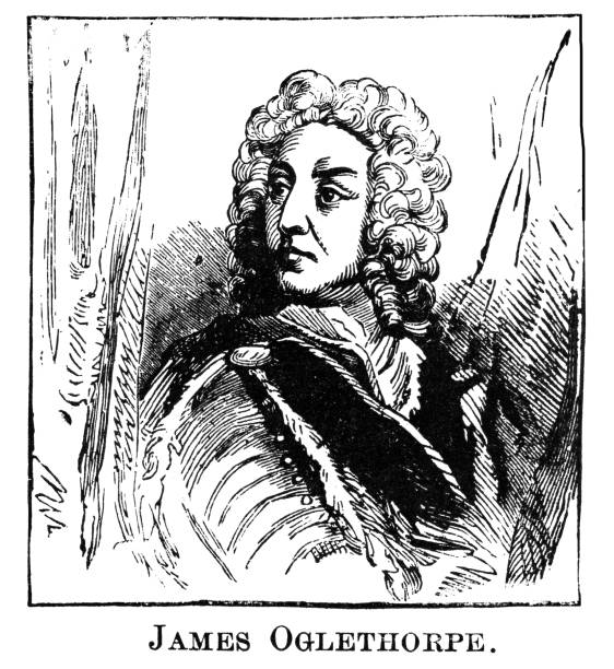 Portrait of James Edward Oglethorpe, British soldier, Member of Parliament, and philanthropist, founder of the colony of Georgia.