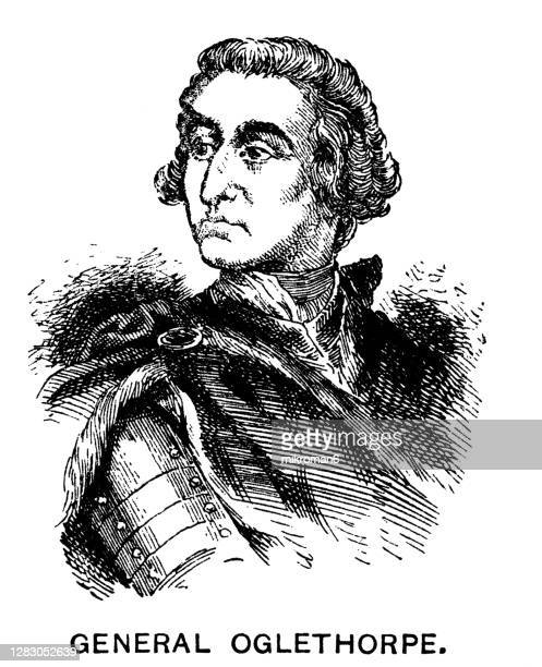 portrait of james edward oglethorpe, british soldier, member of parliament, and philanthropist, founder of the colony of georgia. - philanthropist stock pictures, royalty-free photos & images