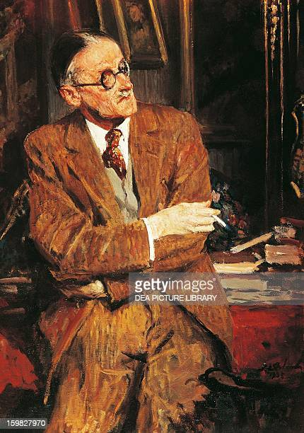 Portrait of James Joyce Irish writer and poet Oil on canvas by JacquesEmile Blanche London National Portrait Gallery
