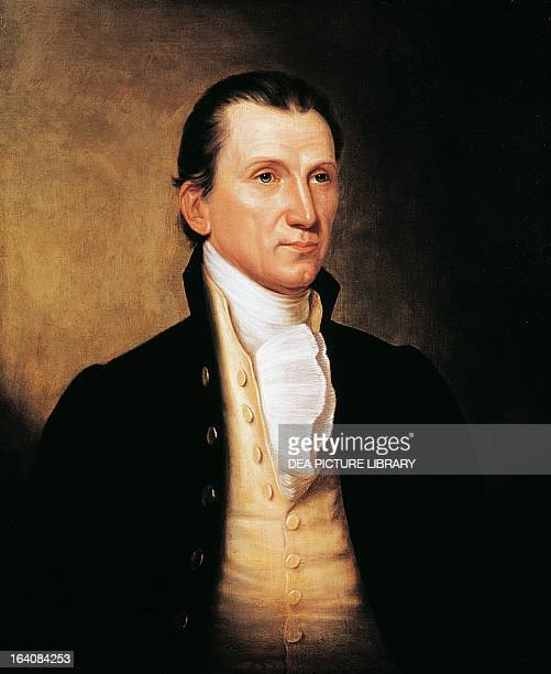 Portrait of James Monroe fifth President of the United States of America Painting by Wanderayn Washington Smithsonian Institution National Portrait...