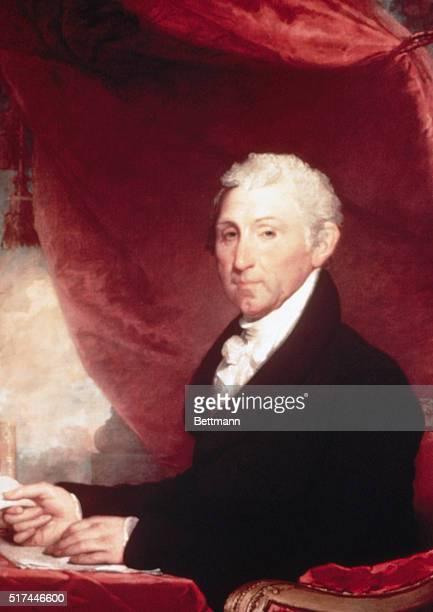 Portrait of James Monroe fifth US President Painting by Gilbert Stuart