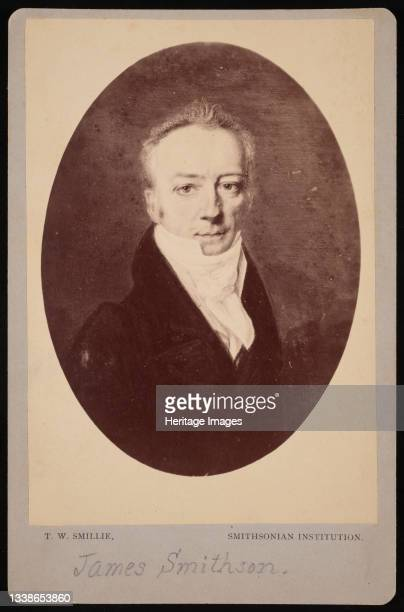 Portrait of James Smithson , 1816 . Painting by Henri-Joseph Johns photographed by T.W. Smillie. Artist Thomas William Smillie.