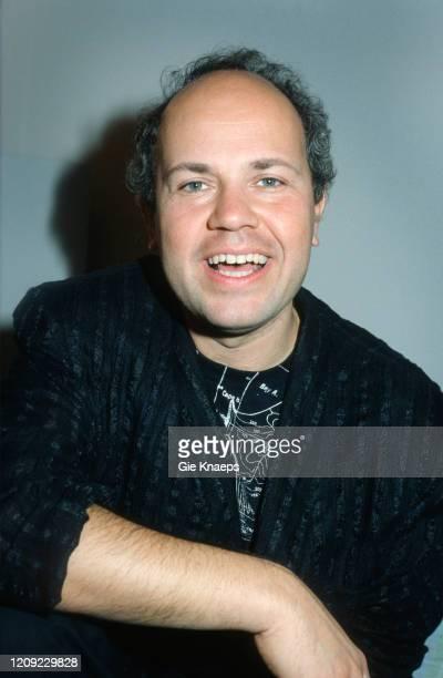 Portrait of Jan Hammer, Diamond Awards Festival, Sportpaleis, Antwerpen, Belgium, 27 November 1987.